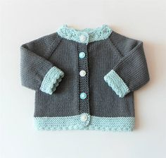 Mint green baby cardigan dark grey baby sweater knit baby jacket baby shower baby girl cardigan new - Etsy - Pinsit Knitted Baby Outfits, Knitted Baby Cardigan, Hand Knitted Sweaters, Baby Girl Cardigans, Baby Girl Sweaters, Baby Boy Knitting Patterns, Baby Knitting, Cardigan Bebe, Sweater Making