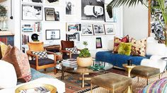 Love this room. The furniture, colors, layers, photos on the walls. Love.