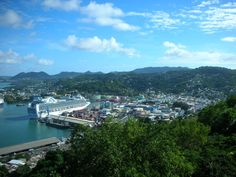 take in the bustle of Castries
