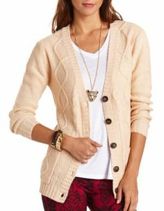 Button-Down Grandfather Cardigan Charlotte Russe $24.99