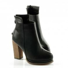 $32.85 Pretty Women's Short Boots With Round Toe and Chunky Heel Design