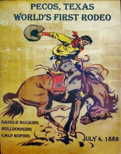 1883 Rodeo Poster - Pecos, TX