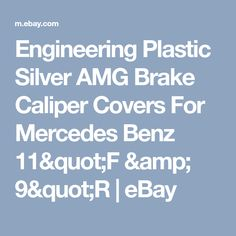 "Engineering Plastic Silver AMG Brake Caliper Covers 11/"" F// 9/"" R for C Class Benz"