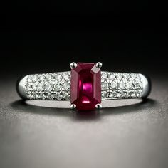 1.07 Ct Oval Red Created Ruby White Diamond 14K White Gold 3//4 Inch Earrings
