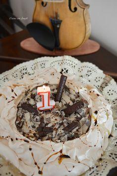 Pavlova con mousse de chocolate