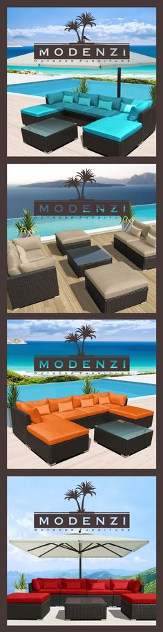 $549+99 Shipping 7pc Outdoor Patio Furniture Sectional Rattan Wicker Sofa Chair Co