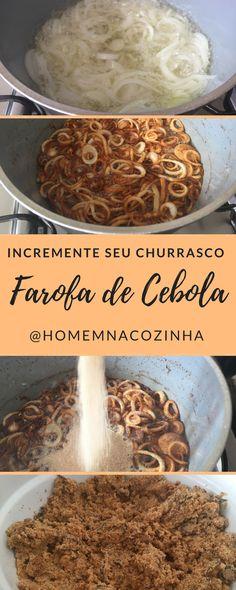 Aprenda a fazer uma deliciosa farofa de cebola que pode ser o acompanhamento perfeito para o seu churrasco.
