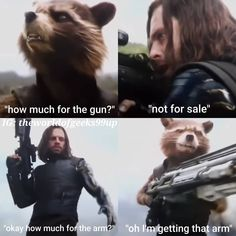 Rocket Raccon will get that metal arm remember that moment in Avengers Infinity War he will it not or maybe get stomped by White Wolf !!! . . #rocketraccoon #thewintersoldier #buckybarnes #marvel #marvelcinematicuniverse #avengers #avengersinfinitywar #10yearanniversary #superheroes #marveluniverse #thanos #infinitygauntlet #disney #marvelstudios #marvelcomics #geeks #fandom #fictionalcharacters #scifi #fanfavorite #kevinfiege #stanlee #mcuphase3 #marvelentertainment #comicbookmovies…