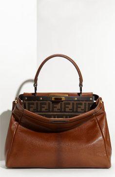 Fendi 'Peekaboo - Small' Goatskin Leather Satchel   Nordstrom - StyleSays