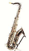 Rheuben Allen Professional Black Nickel With SIlver Keys Plated Tenor Saxophone