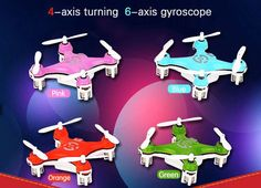 Mini RC Quadcopter 4 channel, 6 Axis gyro 3D stunt nano drone