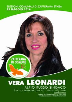 I nostri Candidati: Vera Leonardi #ZafferanainComune #AlfioRussoSindaco