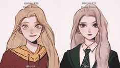 Disney x Hogwarts: Rapunzel and Elsa Harry Potter Drawings, Harry Potter Anime, Harry Potter Fan Art, Disney And Dreamworks, Disney Pixar, Disney Characters, Disney Princesses, Disney Movies, Disney Cartoons