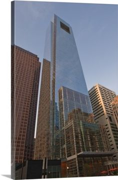 Premium Thick-Wrap Canvas Wall Art Print entitled Comcast Center and Bell Atlantic Tower skyscrapers, None