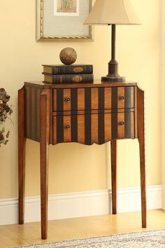 Vertical Stripes Accent Table - Brown on HauteLook