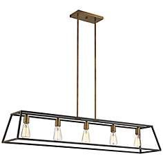 "Hinkley Fulton 50"" Wide Bronze Island Pendant Light"
