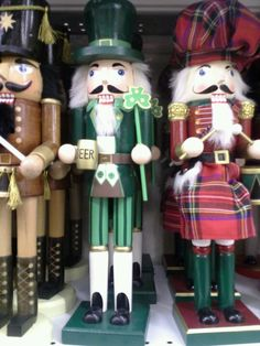 Irish nutcrackers...so cute!