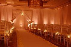 Decor :: All White Ceremony - Simple Yet Elegant