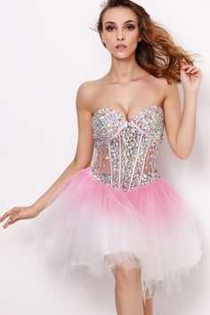 2013 Sexy Sweetheart Rhinestones Crystal Beaded Pink Corset Homecoming Dresses Short Cocktail Dresses 21062 US $129.00