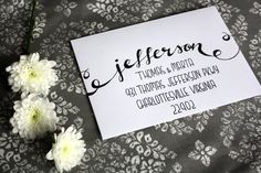 Wedding Calligraphy Envelope Addressing Lower Font. Custom Handwritten.