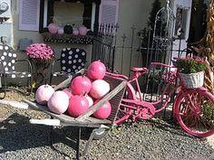 Love all this PINK, Pumpkins in pink,  OOOOOH  LA LA