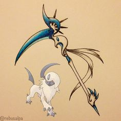 Pokeapon No. 359 - Absol. #pokemon #absol #scythe #pokeapon