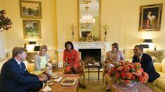 Koningspaar op bezoek bij president Obama   NOS