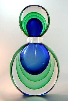 Luigi Onesto perfume bottle www. to design your own unique perfume Blue Perfume, Vintage Perfume, Glass Bottles, Perfume Bottles, Luigi, Potion Bottle, Beautiful Perfume, Bottle Design, Colored Glass