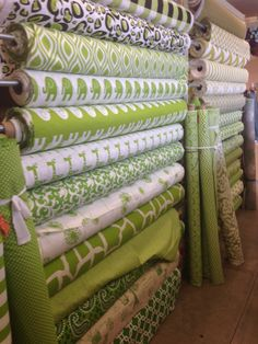 Chartreuse Premier prints! Premier Fabrics, Premier Prints, Printing On Fabric, Curtains, Home Decor, Blinds, Interior Design, Draping, Home Interior Design