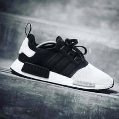 "Check out these crazy Adidas NMD R1 ""Monotone"" Custom by the homie…"
