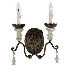 Distressed Double Sconce