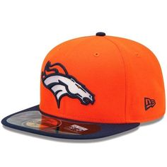 58bc85b0f Gear up with our great shipping options on NFL Denver Broncos New Era  Fitted hats. Order your officially ...