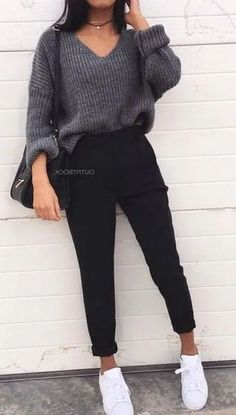 casual outfits for school ~ casual outfits ; casual outfits for winter ; casual outfits for work ; casual outfits for women ; casual outfits for school ; casual outfits for winter comfy Fashion Mode, Winter Fashion Outfits, Look Fashion, Womens Fashion, Fashion Trends, Cheap Fashion, Fashion Fall, Modest Fashion, Fashion Styles