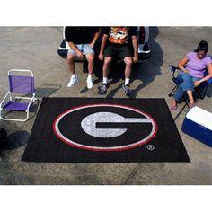 Georgia Bulldogs NCAA Ulti-Mat Floor Mat (5x8') G Logo on Black