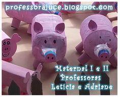 Porco - Animais da Fazenda - com material reciclável
