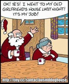 Santa Visits His Old Girlfriends House ---- hilarious jokes funny pictures walmart fails meme humor