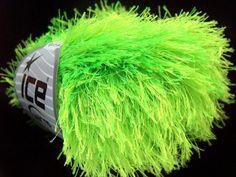 yarn mohawk | phosphoric green eyelash yarn mohawk hat funky yarn ice yarns 50 gr ...