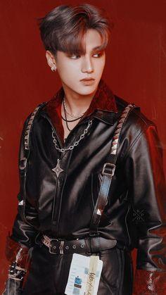Jung Woo Young, Treasure Planet, Red Aesthetic, Group Photos, Korean Beauty, My Boyfriend, Monsta X, Boy Groups, Cute Babies