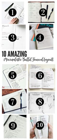10 Amazing Minimalistic Bullet Journal Layouts More