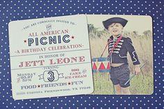 Patriotic Picnic Party | Cute Invite