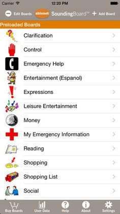 SoundingBoard is a free AAC app through Ablenet. Available on Apple products. -Courage Kenny Rehabilitation Institute