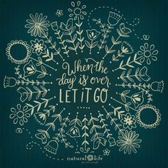 It's Sunday, let it go and enjoy the day.