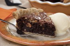 Walnut Brownie Pie | MrFood.com