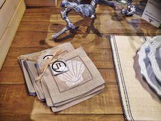 Seashell linens at Agnes Agatha Homemaker Shop!