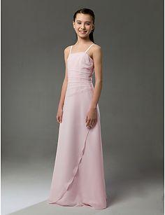 potential jr bridesmaid dress? http://www.lightinthebox.com/A-line-Spaghetti-Straps-Floor-length-Sleeveless-Chiffon-Ruffles-Junior-Bridesmaid-Dress--FSL0626-_p95110.html