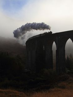 On The Concrete Curve    62005 crosses Glenfinnan viaduct with the Jacobite from Fort William to Mallaig