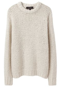 Isabel Marant / rfQuena Oversized Chunky Knit. This oversized sweater would look amazing with a pair of black leggings and knee high boots along with a nice scarf :)