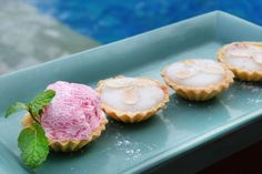 Enjoy our sumptuous Coconut Tarts while #chilling at the pool. Can there be a more perfect finale to your afternoon? We think not  www.camakilabali.com  #camakila #thecamakila #camakilabali #legian #bali
