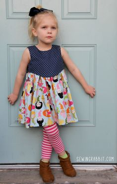 The Madeline Dress sewing pattern for girls