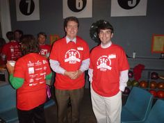 #Lawyer Evan Guthrie with J. Matthew Johnson of Corrigan and Chandler at the South Carolina Bar Young Lawyers Division Bowling Buddies event featuring young attorneys cheering on South Carolina Special Olympics athletes on as they bowl at The Alley in Charleston, SC on Wednesday December 3, 2014